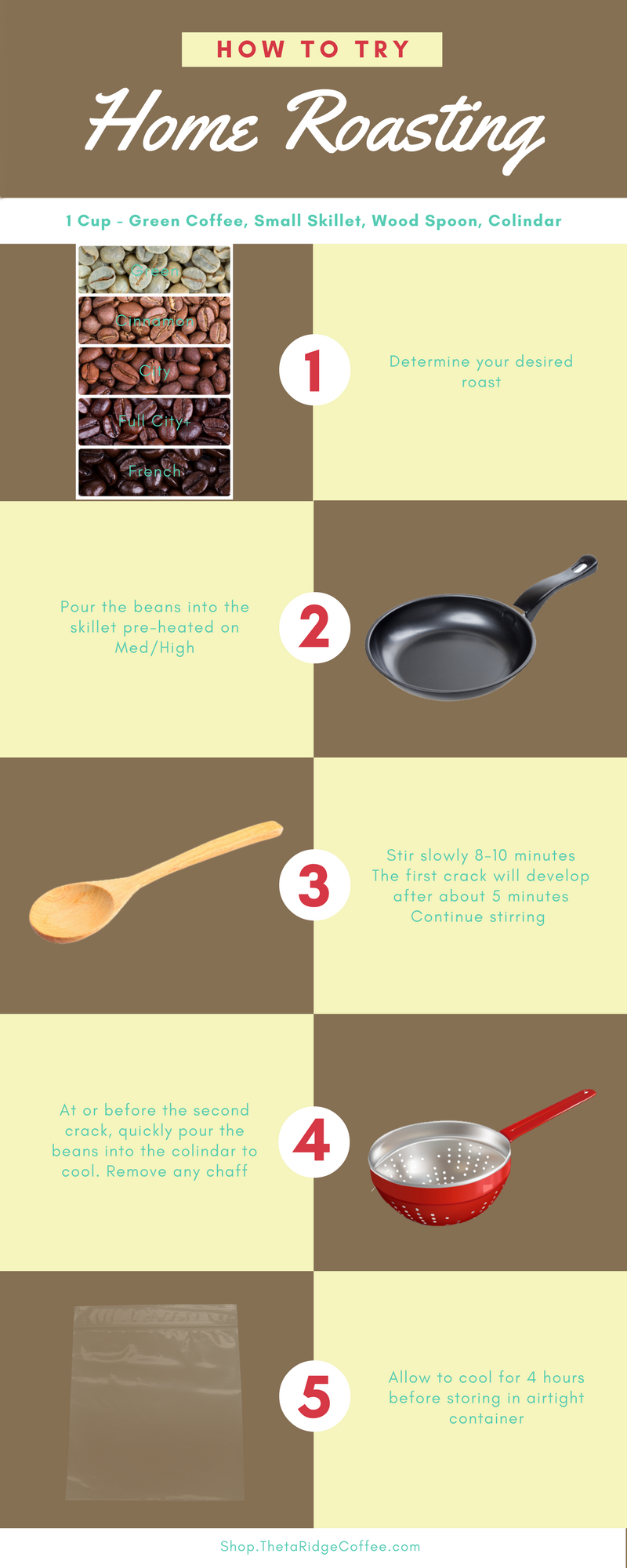 Easy steps to home roasting coffee beans
